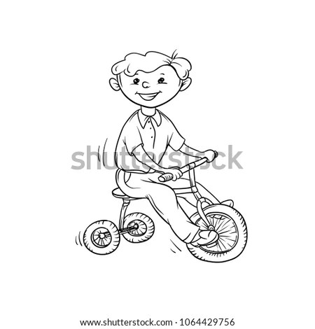 Tricycle Cartoon Stock Images, Royalty-Free Images