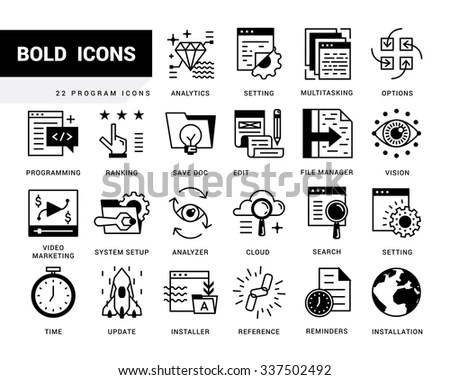 Time Management Flat Icons Set Task Stock Vector 232573174