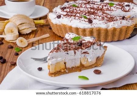banoffee pie stock royalty-free