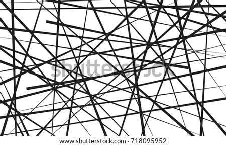 Seamless Spider Web Connected Black Lines Stock Vector