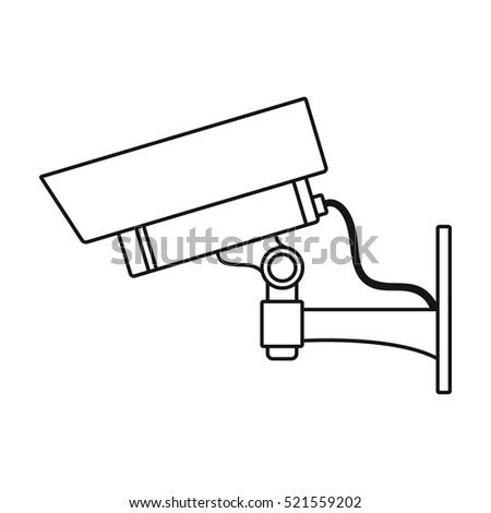 Wall Mount Camera Line Icon Outline Stock Vector 563487451