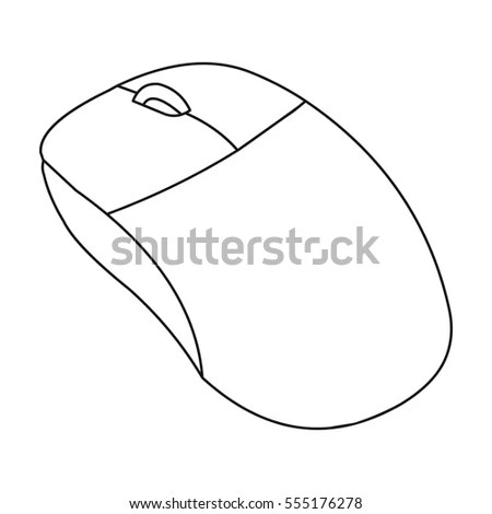Computer Mouse Icon Outline Style Isolated Stock