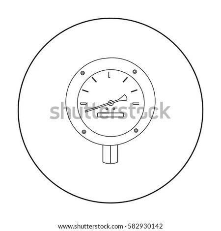 Vector Manometer Flat Icon Isolated On Stock Vector