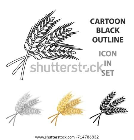 Vector Hand Drawn Wheat Ears Sketch Stock Vector 333214313