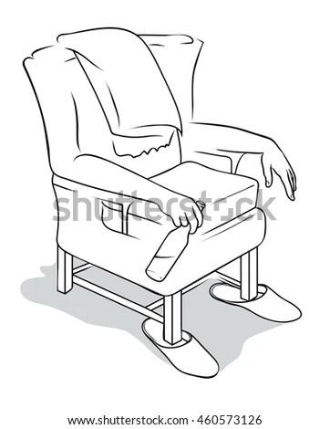 Desk Chair Book Learning Equipments Class Stock Vector