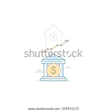 Mortgage Down Payment Budget Fund Plan Stock Vector