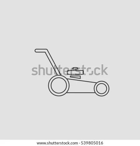 Manual Lawn Mower Retro Clip Art Stock Vector 59882731