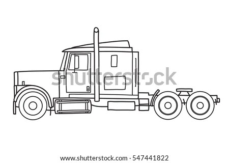 Line Art Illustration Choo Choo Train Stock Illustration
