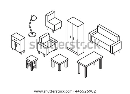 Isometric Furniture Stock Images, Royalty-Free Images