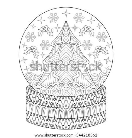 Winter Hat Happy New Year Doodling Stock Vector 496184146