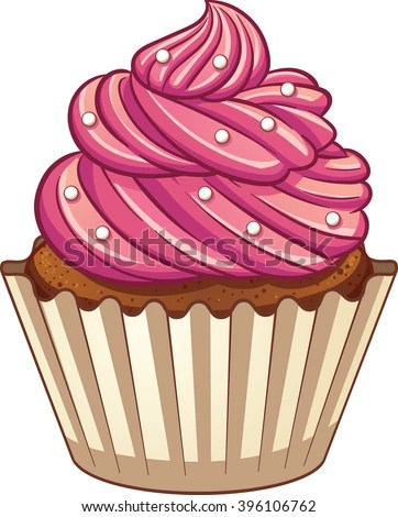 cupcake cartoon stock royalty-free