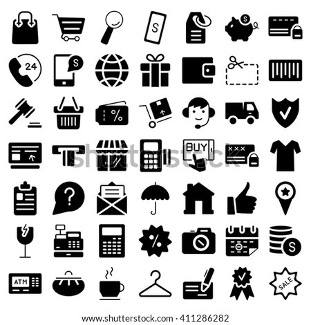 Ecommerce Outline Web Icons Set Stock Vector 260137310
