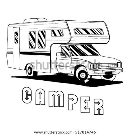 Vintage Motorhome Clip Vintage Campers Wiring Diagram ~ Odicis