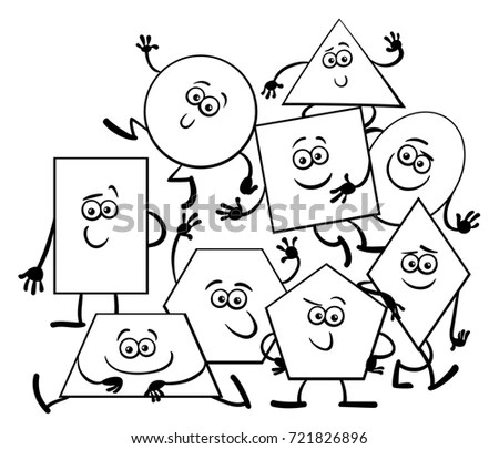 Cartoon Hexagon Shapes Stock Images, Royalty-Free Images