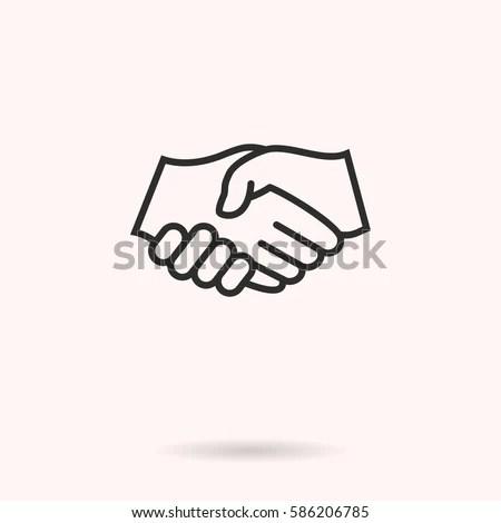 Handshake Vector Icon Black Illustration Isolated Stock