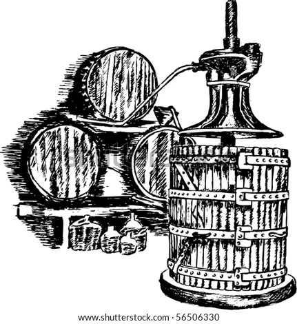 Wine Press Clip Art
