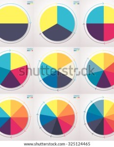 Pie charts with thin line arrows set of flat also infographic elements stock vector royalty free rh shutterstock