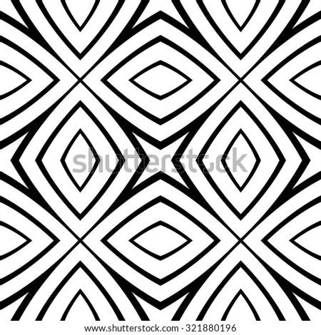 Abstract Ethic Geometric Pattern Maze Diagonal Stock