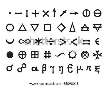 Basic Signs Fundamental Elements Mathematical Symbols