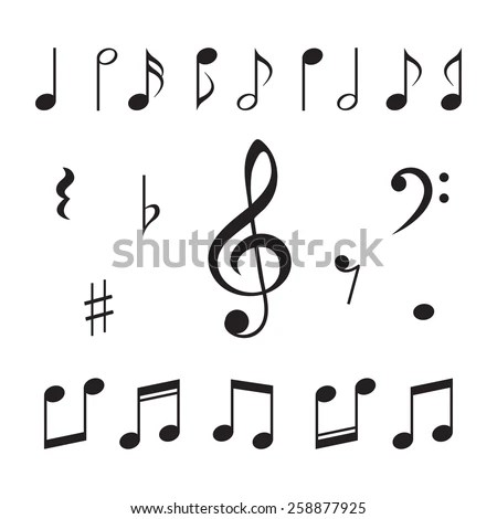 Music Notes Vector Illustration Stock Vector (Royalty Free