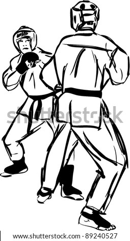 Draw Karate Man Stock Images, Royalty-Free Images