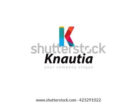 Stylish Typographic Logo Template Letter K Stock Vector