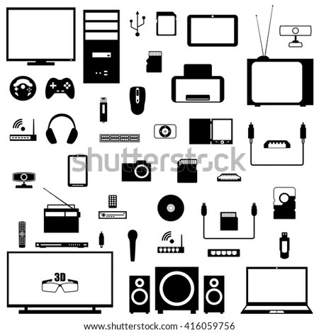 Line Icons Set Flat Design Elements Stock Vector 269276366