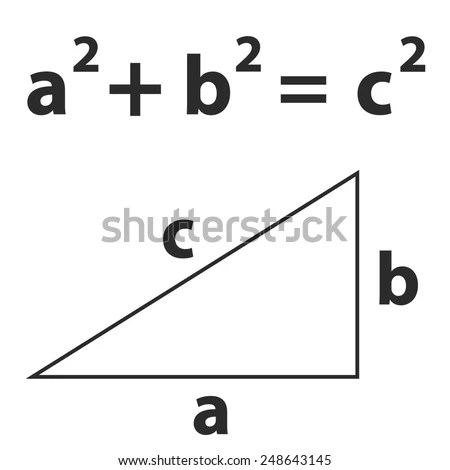 Pythagoras Theorem Vector School Theorem Vector Stock