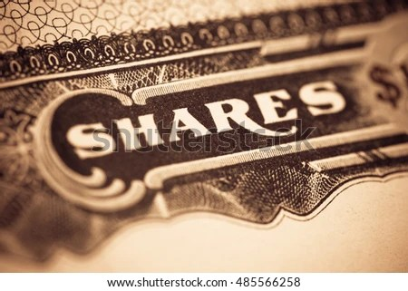 Macro Image Old Stock Certificate Word Stock Photo (Royalty Free ...