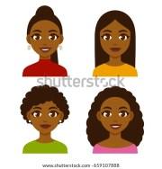 cute cartoon black girls natural