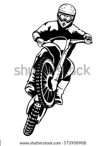 Motorcycle Races Branding Identity Corporate Vector Stock