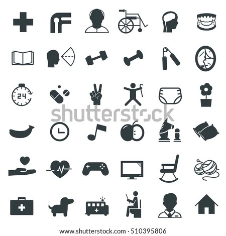Elderly Care Icon Stock Images, Royalty-Free Images