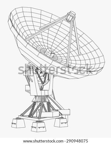 Satellite Dish Vector Illustration Stock Vector (Royalty