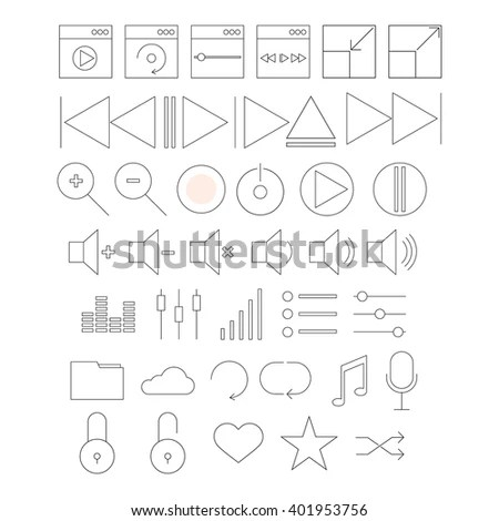 Schematic Symbols Electrical Engineering Icon Set Stock