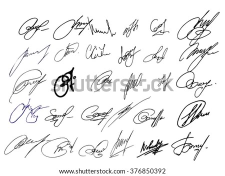 Autographs Stock Images, Royalty-Free Images & Vectors