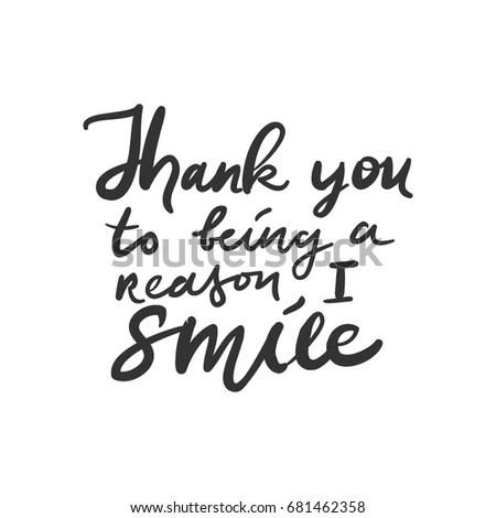 Thank You Being Reason Smile Modern 库存矢量图 681462358