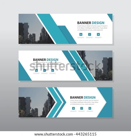 Blue Black Triangle Abstract Corporate Business Stock