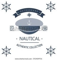 Set Vintage Nautical Labels Icons Design Stock Vector ...