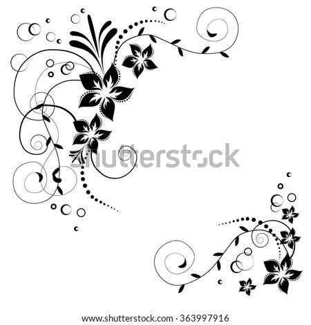 decorative large binder clips auto electrical wiring diagram 1990 Club Car Wiring Diagram flowery border stock images royalty free images vectors