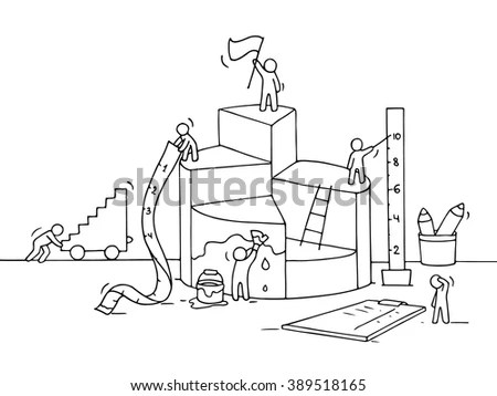 Sketch Diagram Construction Working People Ruler Stock