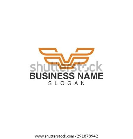 Origami Wings Vector Logo Template Concept Stock Vector