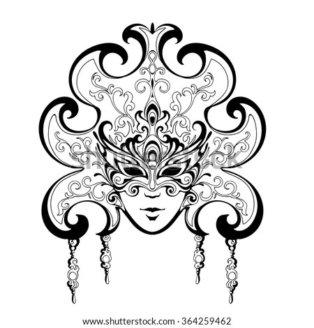 Floral Border Coloring Pages.Vector Illustration Of Floral
