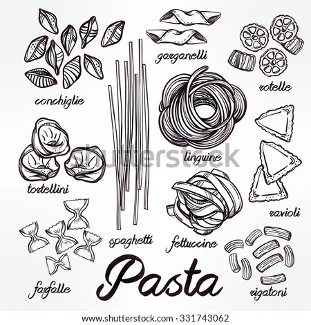 Pasta Sketch Stock Images, Royalty-Free Images & Vectors