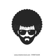 cool man afro haircut african stock