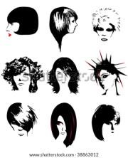 punk hair stock vectors