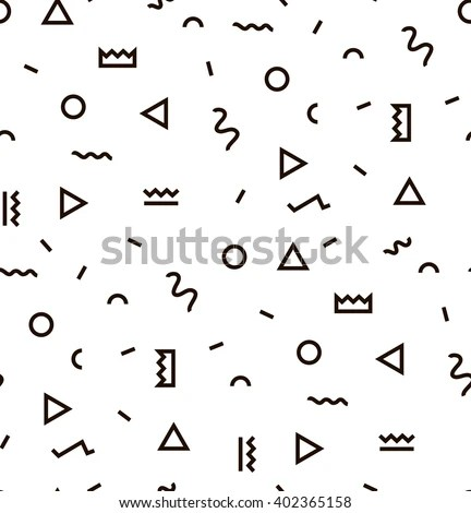Geometric Vector Pattern Black White Form Stock Vector