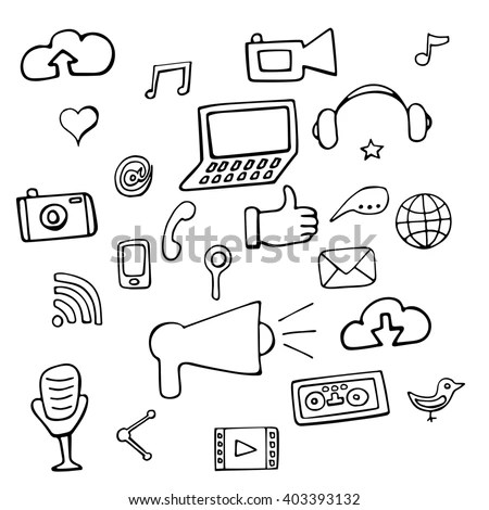 Electronics Gadgets Vector Seamless Pattern Use Stock