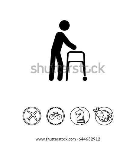 People Icons Manual Work Postures Stock Vector 156153959