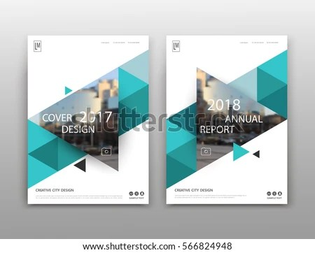 Abstract Binder Layout White A 4 Brochure Stock Vector