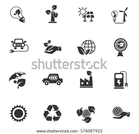 Vector Pollution Icons Set Stock Vector 185893583